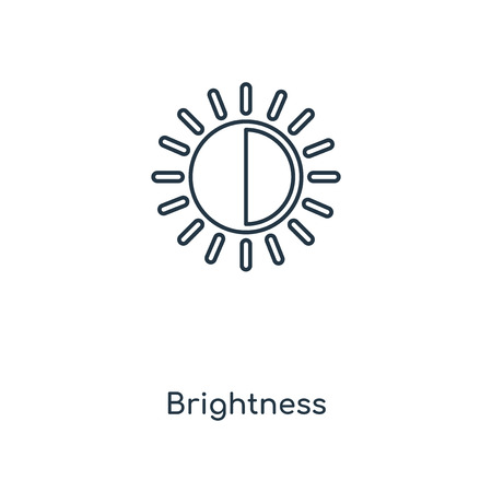 Brightness concept line icon. Linear Brightness concept outline symbol design. This simple element illustration can be used for web and mobile UI/UX. Ilustração
