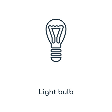 Light bulb concept line icon. Linear Light bulb concept outline symbol design. This simple element illustration can be used for web and mobile UI/UX.