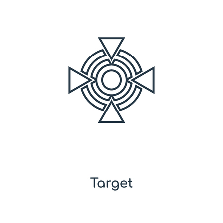 Target concept line icon. Linear Target concept outline symbol design. This simple element illustration can be used for web and mobile UI/UX.