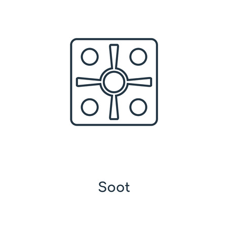 Soot concept line icon. Linear Soot concept outline symbol design. This simple element illustration can be used for web and mobile UI/UX.