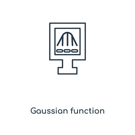 Gaussian function concept line icon. Linear Gaussian function concept outline symbol design. This simple element illustration can be used for web and mobile UIUX.