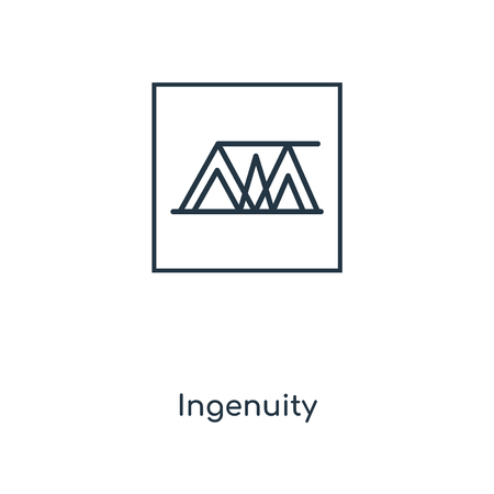 Ingenuity concept line icon. Linear Ingenuity concept outline symbol design. This simple element illustration can be used for web and mobile UI/UX. Illustration