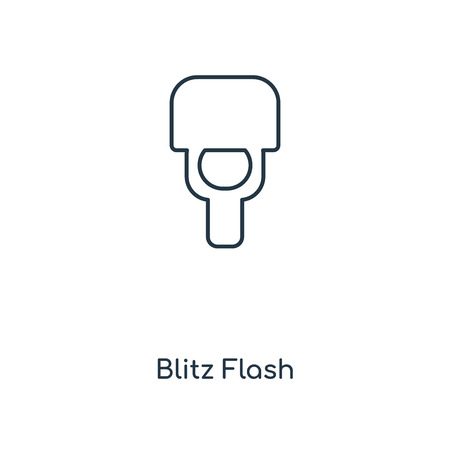 Blitz Flash concept line icon. Linear Blitz Flash concept outline symbol design. This simple element illustration can be used for web and mobile UI/UX.