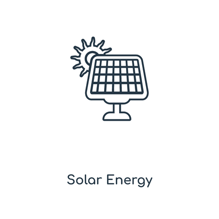 Solar Energy concept line icon. Linear Solar Energy concept outline symbol design. This simple element illustration can be used for web and mobile UI/UX.