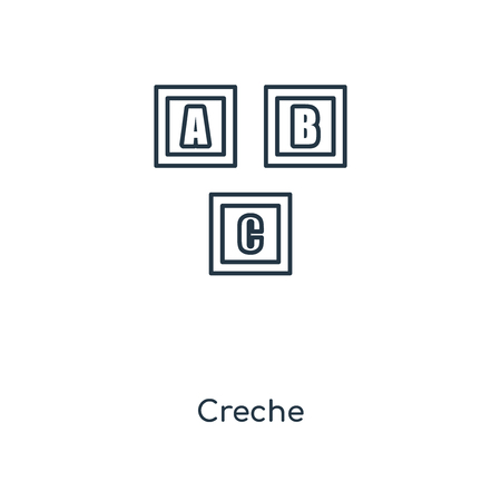 Creche concept line icon. Linear Creche concept outline symbol design. This simple element illustration can be used for web and mobile UIUX.