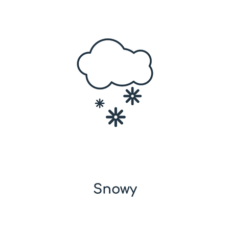 Snowy concept line icon. Linear Snowy concept outline symbol design. This simple element illustration can be used for web and mobile UI/UX. Stock Illustratie
