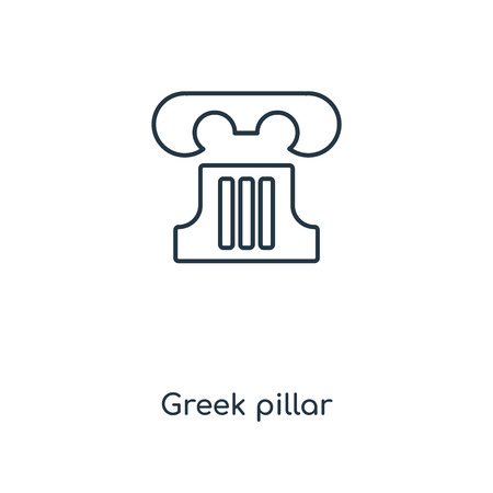 Greek pillar concept line icon. Linear Greek pillar concept outline symbol design. This simple element illustration can be used for web and mobile UI/UX.
