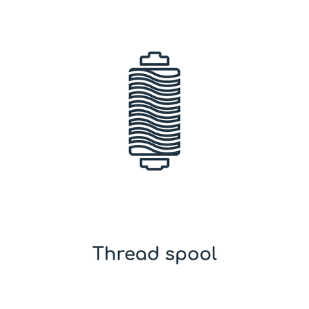 Thread spool concept line icon. Linear Thread spool concept outline symbol design. This simple element illustration can be used for web and mobile UIUX.