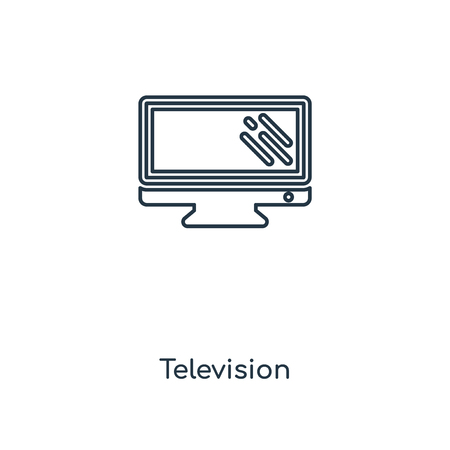 Television concept line icon. Linear Television concept outline symbol design. This simple element illustration can be used for web and mobile UI/UX.