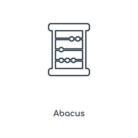 Abacus concept line icon. Linear Abacus concept outline symbol design. This simple element illustration can be used for web and mobile UIUX.