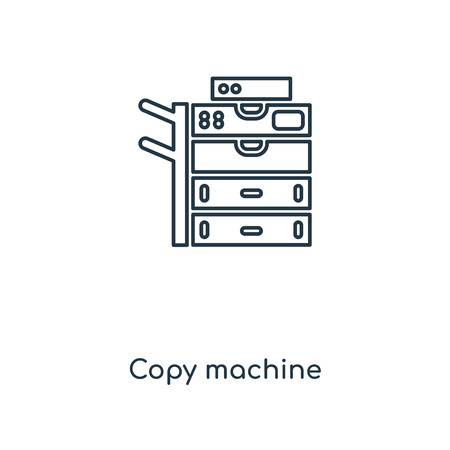 Copy machine concept line icon. Linear Copy machine concept outline symbol design. This simple element illustration can be used for web and mobile UI/UX. Ilustrace