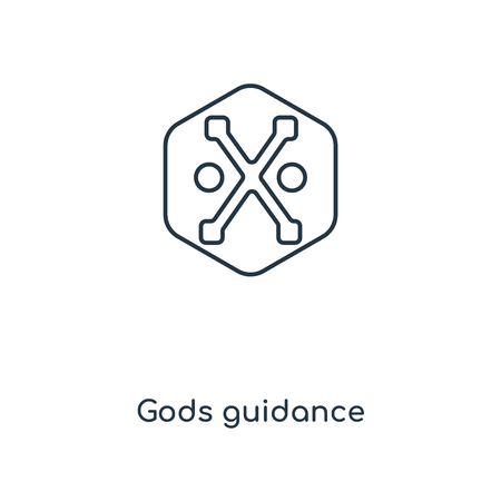 Gods guidance concept line icon. Linear Gods guidance concept outline symbol design. This simple element illustration can be used for web and mobile UI/UX.