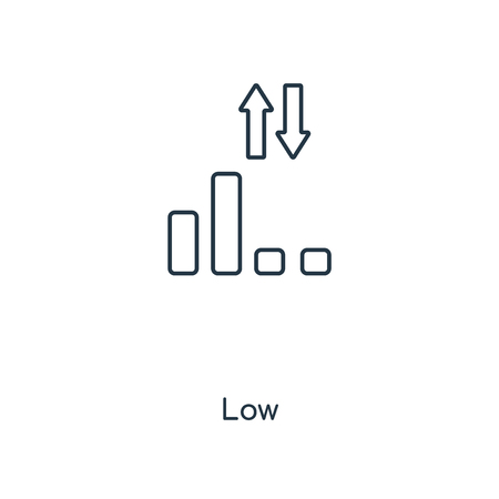 Low signal concept line icon. Linear Low signal concept outline symbol design. This simple element illustration can be used for web and mobile UI/UX.