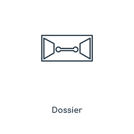 Dossier concept line icon. Linear Dossier concept outline symbol design. This simple element illustration can be used for web and mobile UI/UX.