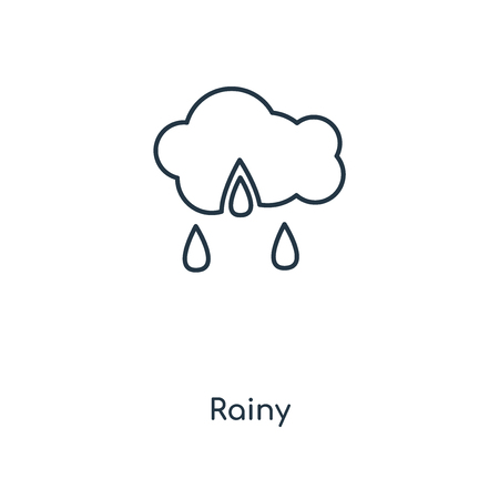 Rainy concept line icon. Linear Rainy concept outline symbol design. This simple element illustration can be used for web and mobile UIUX.