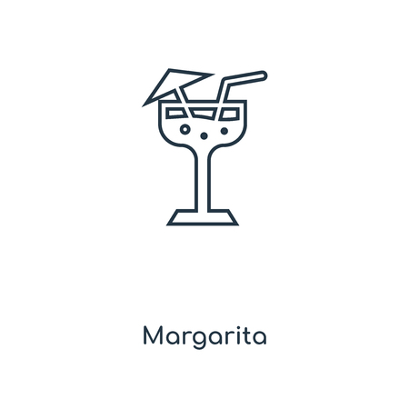 Margarita concept line icon. Linear Margarita concept outline symbol design. This simple element illustration can be used for web and mobile UIUX. Illustration