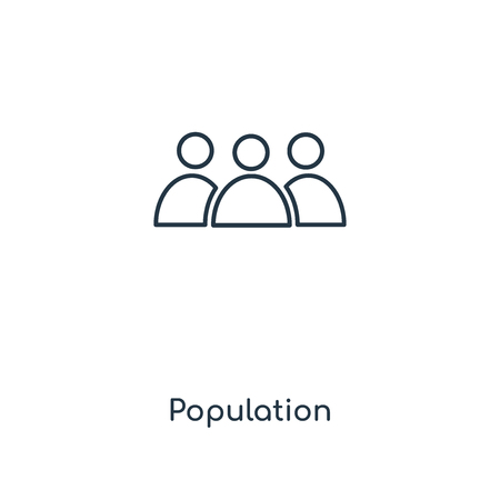 Population concept line icon. Linear Population concept outline symbol design. This simple element illustration can be used for web and mobile UI/UX.