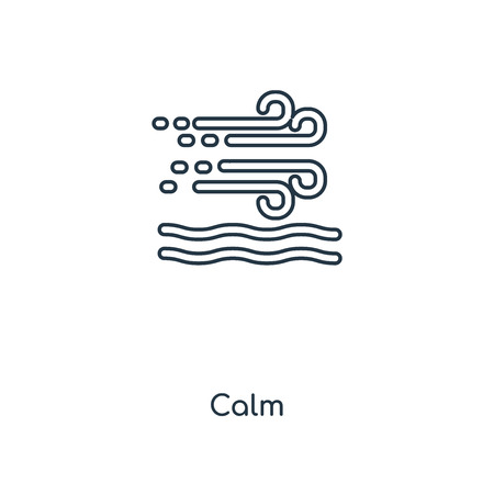 Calm concept line icon. Linear Calm concept outline symbol design. This simple element illustration can be used for web and mobile UI/UX.