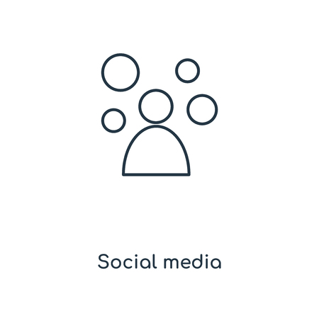 Social media concept line icon. Linear Social media concept outline symbol design. This simple element illustration can be used for web and mobile UI/UX. Illustration