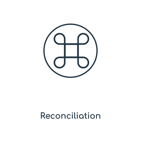 Reconciliation concept line icon. Linear Reconciliation concept outline symbol design. This simple element illustration can be used for web and mobile UIUX.
