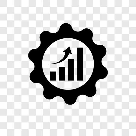 Icono de vector de eficiencia aislado sobre fondo transparente, concepto de logo de transparencia de eficiencia Logos