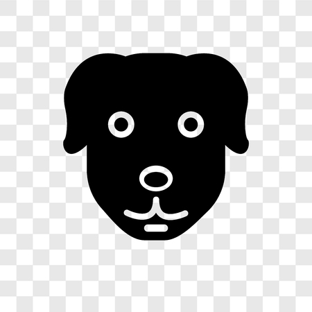 Dog vector icon isolated on transparent background, Dog transparency logo concept