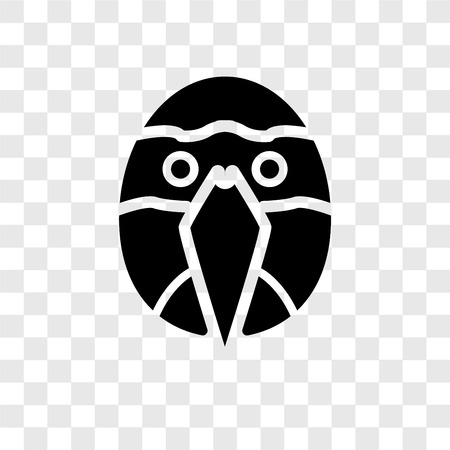 Parrot vector icon isolated on transparent background, Parrot transparency logo concept