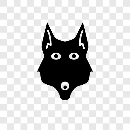 Fox vector icon isolated on transparent background, Fox transparency logo concept