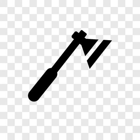 Icona di vettore di ascia isolato su sfondo trasparente, concetto di logo trasparenza ascia