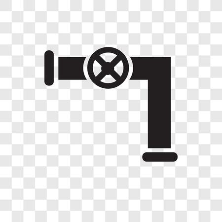 Icono de vector de tubería de gas aislado sobre fondo transparente, concepto de logo de transparencia de tubería de gas Logos