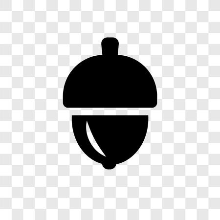 Icono de vector de bellota aislado sobre fondo transparente, concepto de logo de transparencia de bellota Logos