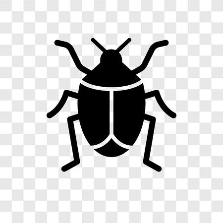Icône de vecteur de bug isolé sur fond transparent, concept de logo de transparence Bug