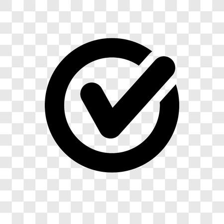 Confirmar el icono de vectores aislado sobre fondo transparente, confirmar el concepto de logo de transparencia