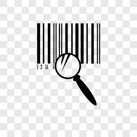 Barcode vector icon isolated on transparent background, Barcode transparency logo concept 일러스트