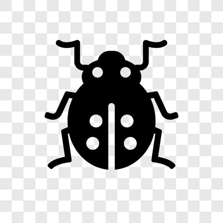 Ladybug vector icon isolated on transparent background, Ladybug transparency logo concept