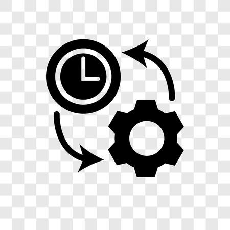 Icône de vecteur de productivité isolé sur fond transparent, notion de logo de transparence de productivité
