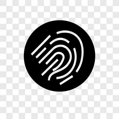 Fingerprint scan vector icon isolated on transparent background, Fingerprint scan transparency logo concept