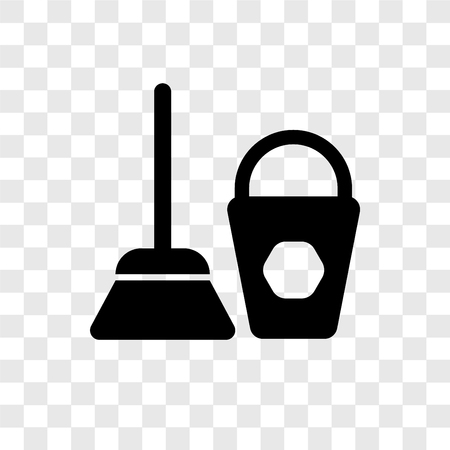 Dustpan cleanin vector icon isolated on transparent background, Dustpan cleanin transparency logo concept