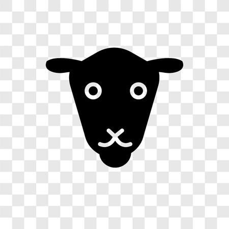 Female Sheep vector icon isolated on transparent background, Female Sheep transparency logo concept