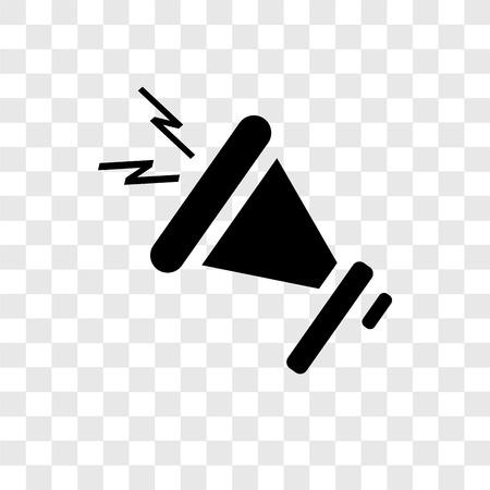 Megafon wektor ikona na białym tle na przezroczystym tle, koncepcja logo przejrzystości megafon Logo