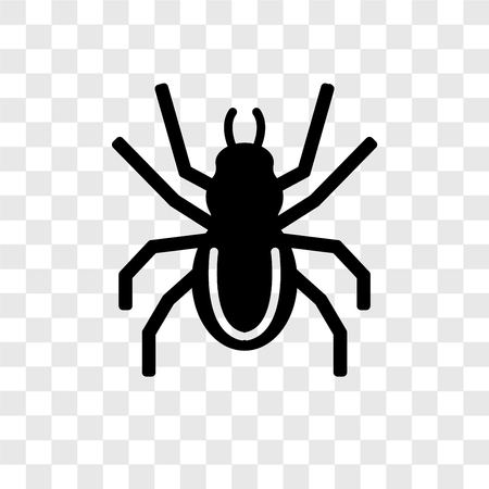 Spider vector icon isolated on transparent background, Spider transparency logo concept