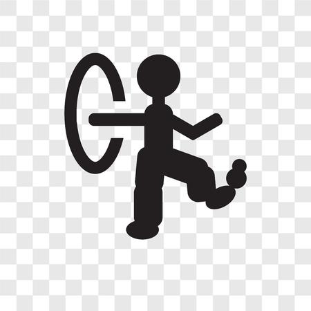 Icono de vector de hombre malabarista aislado sobre fondo transparente, concepto de logo de transparencia de malabarista hombre