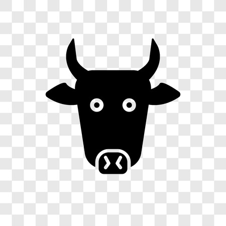 Cow vector icon isolated on transparent background, Cow transparency logo concept