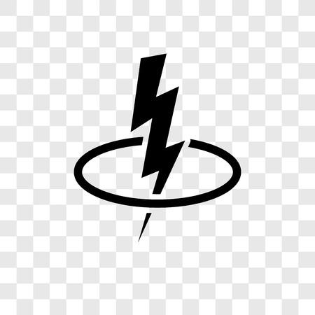 Icono de vector de energía aislado sobre fondo transparente, concepto de logo de transparencia de energía
