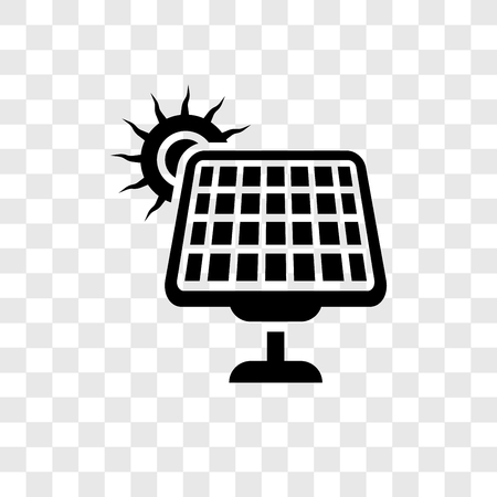 Solar Energy vector icon isolated on transparent background, Solar Energy transparency logo concept