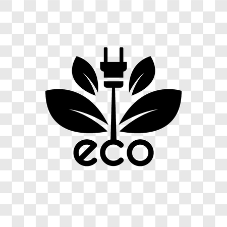 Ecological energy source vector icon isolated on transparent background, Ecological energy source transparency logo concept Logo
