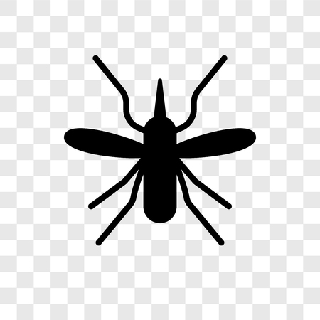 Mosquito vector icon isolated on transparent background, Mosquito transparency logo concept Ilustracja