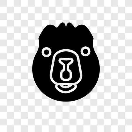 Beaver vector icon isolated on transparent background, Beaver transparency logo concept Illustration