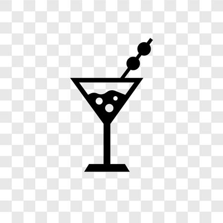 Icône vecteur Martini isolé sur fond transparent, concept logo Martini transparence Logo