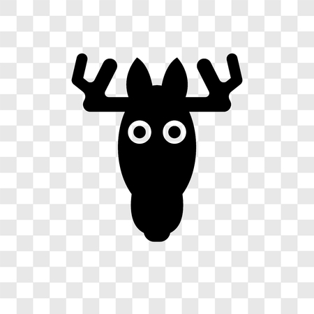 Moose vector icon isolated on transparent background, Moose transparency logo concept 矢量图像